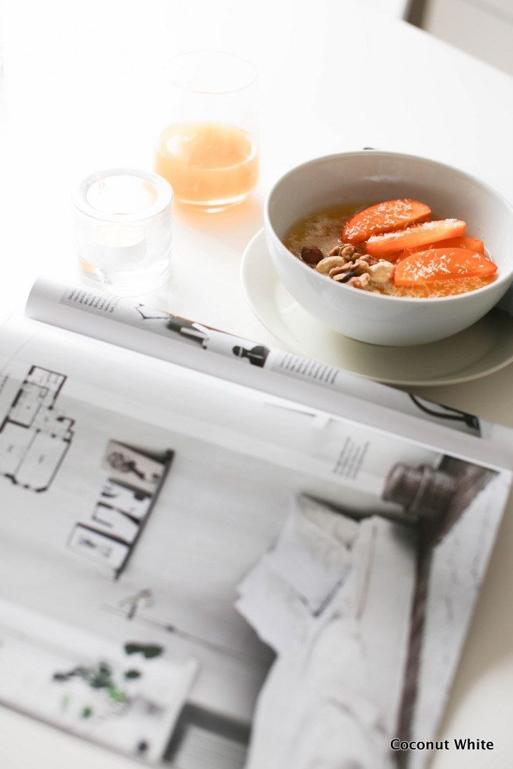 Aamua, puuroa ja terveellinen ruokavalio | Coconut White