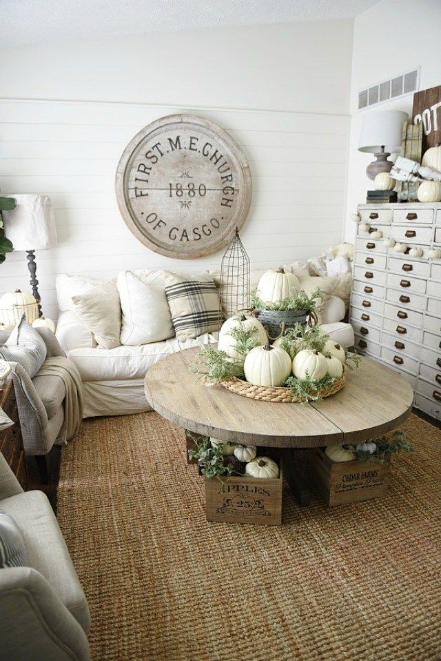 9 Ways to Decorate With White Pumpkins Fall decor Pinterest