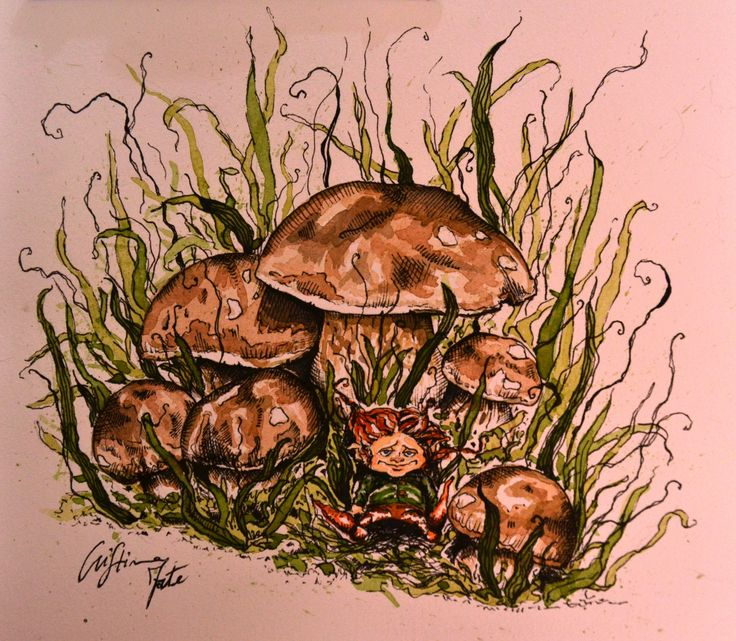 Little Gnome, mixed technique, Cristina Forte on ArtStation at https://www.artstation.com/artwork/little-gnome-mixed-technique