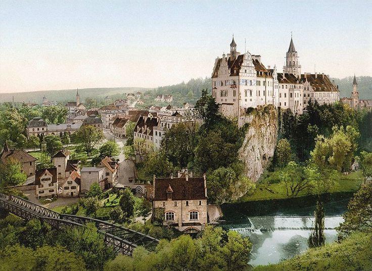 Dez fotos raras da Alemanha de 1900, antes de ser destruída pelas guerras  CASTELO DE SIGMARINGEN (FOTO: TASCHEN VIA BOREDPANDA)