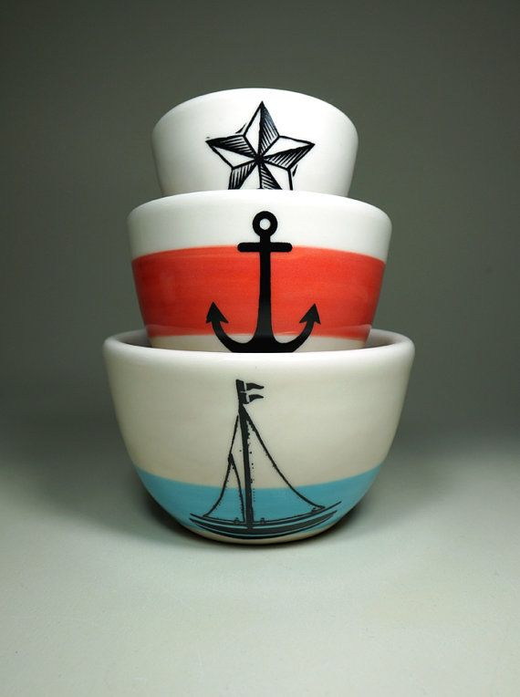 The Urban Set for the Seaworthy. Made to Order. by CircaCeramics, $65.00