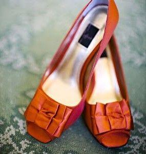 Chaussures colorées  orange