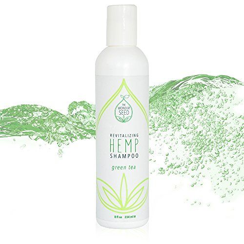 The Wonder Seed Hemp Seed Oil Shampoo  All Natural Organic Formula  Zero Toxin Vegan Blend Best Solution for Hair Loss Prevention Dry Itchy Scalp Dandruff  Cruelty Free Green Tea 8oz * Click image for more details.