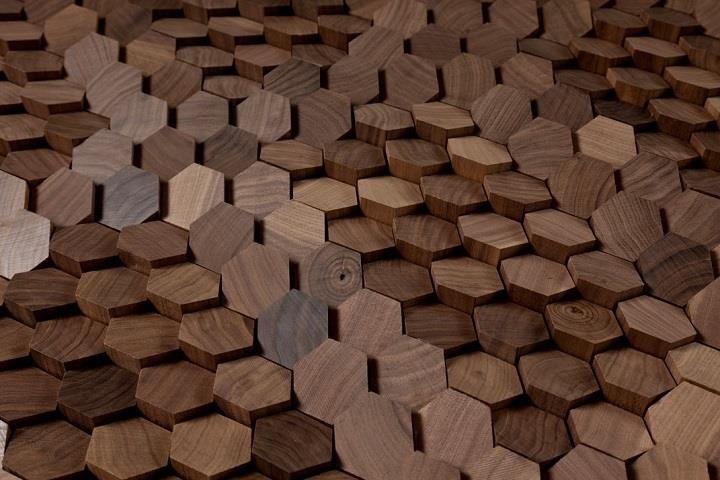 Giles Miller Studio - дизайн поверхности древесины