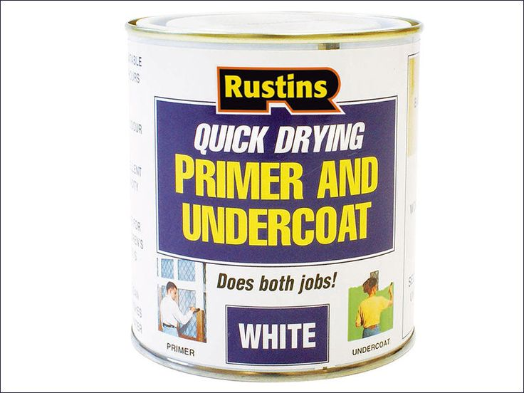 Rustins Quick Dry Primer & Undercoat White. Rustins quick dry primer and undercoat can be used as a primer on new and bare wood, MDF, plaster, brickwork and cement. Size: 250ml. Used as an undercoat on primed or painted surfaces and may be overcoated with water or solvent based finishing paints. | eBay!