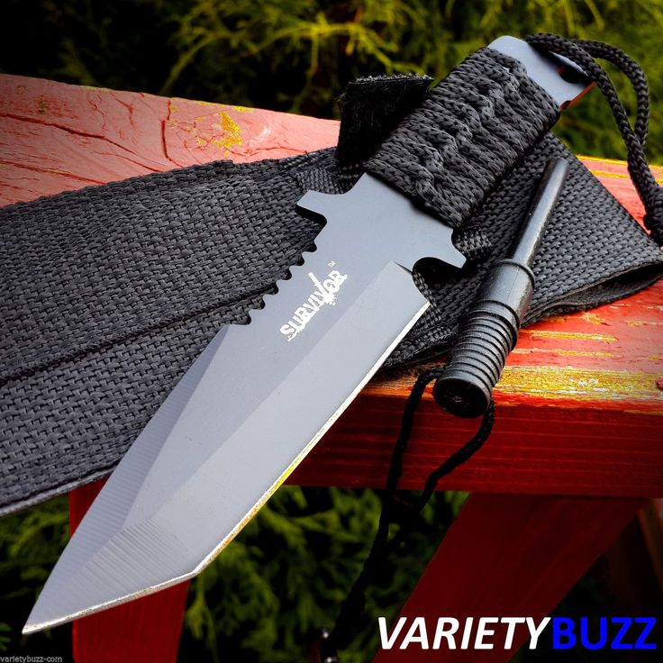 Buy TACTICAL BOWIE SURVIVAL HUNTING KNIFE w/ SHEATH MILITARY Combat Fixed Blade FIRE at online store