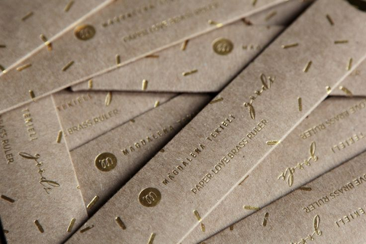 Brass Ruler by Magdalena Tekieli Design New package!
