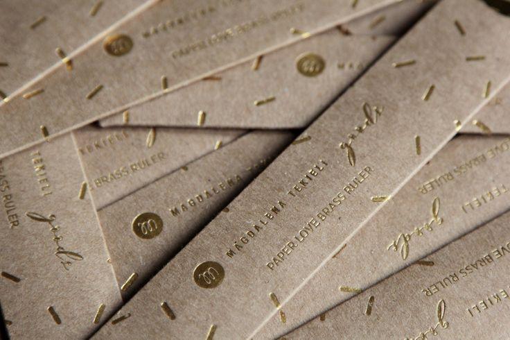 Brass Ruler by Magdalena Tekieli Design New package!