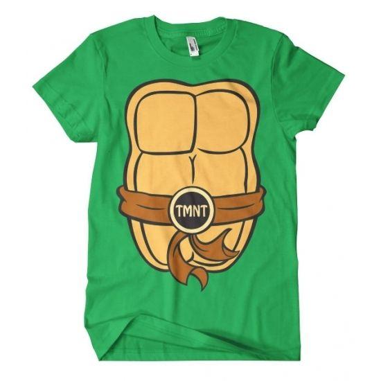 Fred Ninja Turtle shirt kostuum voor volwassenen  Teenage Mutant Ninja Turtles t-shirt met korte mouwen. Het shirt heeft print aan de voor- en achterzijde waardoor het lijkt alsof je een Ninja Turtle bent. Materiaal: 100% gekamd katoen.  EUR 17.95  Meer informatie