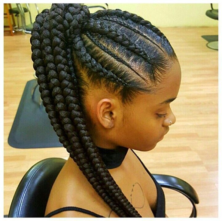 braids styles black hair braided ponytail hairstyles hair 2794