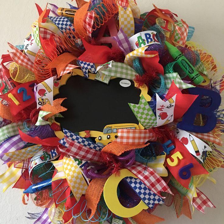 School Wreath,Teacher Appreciation gift.