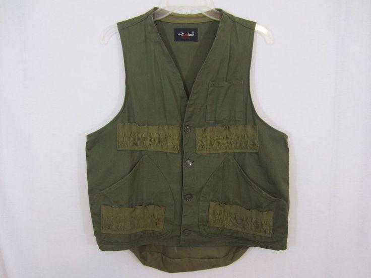 Men's Vintage Redhead Hunting Vest CAMO Game & Shell Pocket Size Medium #RedHead