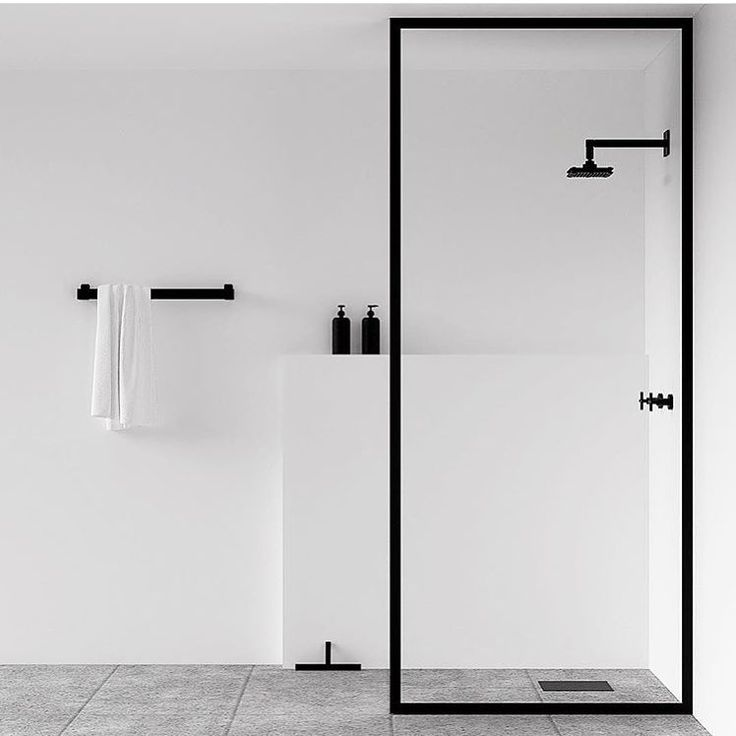 NICHBA - minimal white black and grey shower