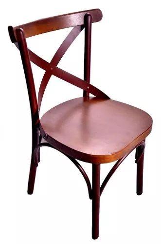 cadeira paris ferro aço cortem encosto e assento castanho