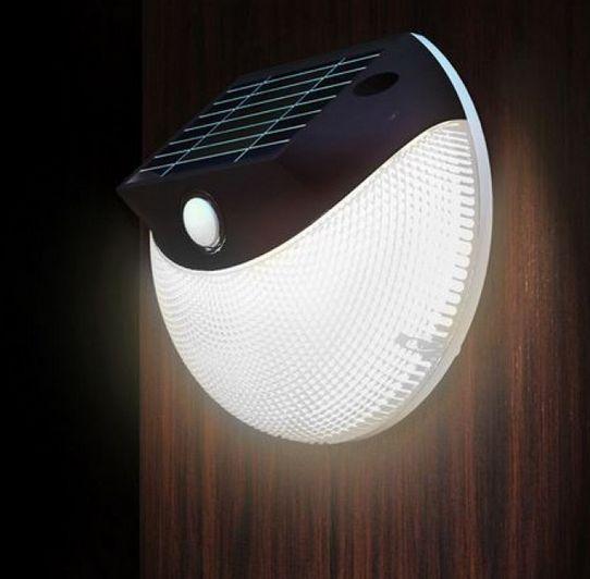 Lampada ad energia solare applique led segnapasso fotovoltaico faretto lampione
