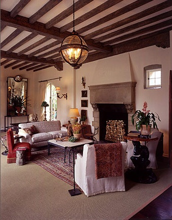 .: Neutral Rugs, Showca House, Home, Living Rooms,  Eating House, House Living, Spanish Style, Beautiful Beams, Woods Beams