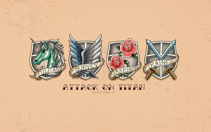 Attack on titan scouting legion wallpaper by imxset21 on for Attack on titan tattoo