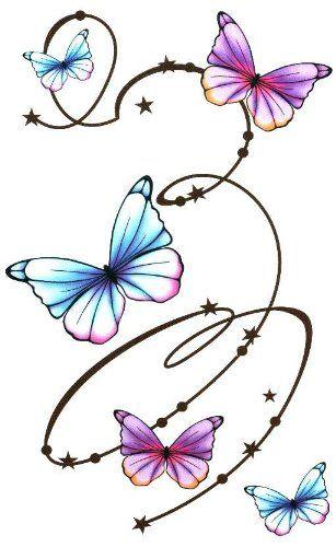 "Butterfly with Swirls Large Temporary Body Art Tattoos 7"" x 4.5"" TMI,http://www.amazon.com/dp/B00ABNX94A/ref=cm_sw_r_pi_dp_50dfsb1J1M2C2QZQ"