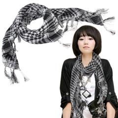 Checkered Scarf Shawl Wrap  fashion and nice for girl and women
