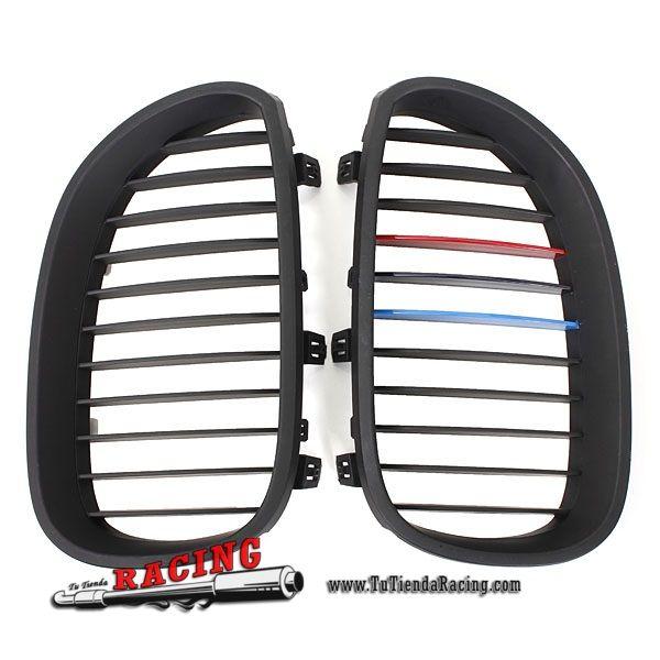 Juego de Parrillas Frontales Color Negro Mate para Coche BMW E60 5 Series Sedan 03-09 -- 43,88€ Envío gratuito a toda España en todos los productos