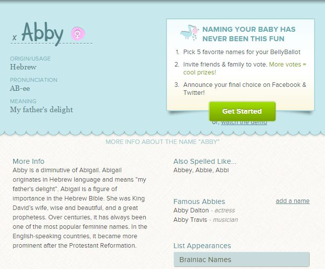 Whats Your Name What Do You Think About The 3 Abby Baby Boys NamesBaby Names BoyBoy
