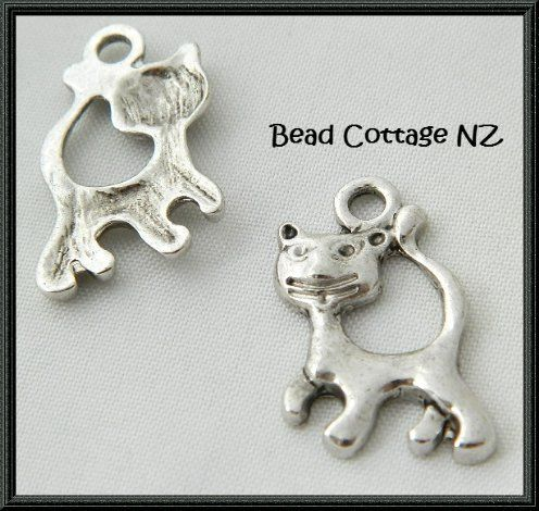 Cute Cat Charms from www.beadcottage.co.nz