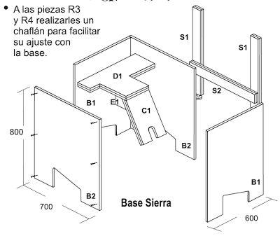 Muebles domoticos como hacer una sierra circular de banco for Planos de carpinteria