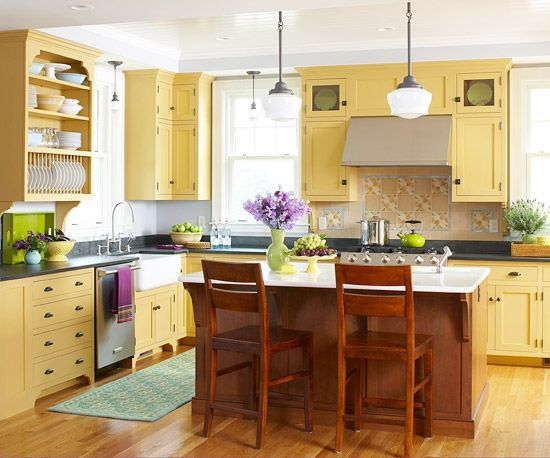 Kitchens Kitchen Ideas Yellow Kitchens Yellow Kitchen Cabinets