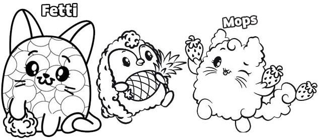 Fetti And Mops Coloring Page Of Pikmi Pops Pikmi Pops