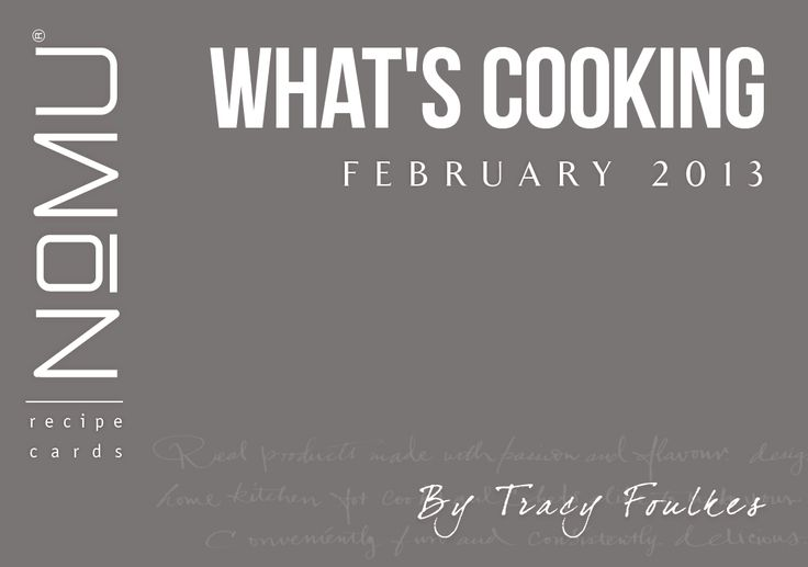 What's Cooking Recipe Cards | Feb 2013