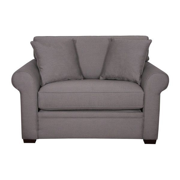 Offering comfortable seating by day and an extra sleeping area by night. Featuring a standard twin size bed and loose back cushions, this traditional sleeper sofa will add style to any space you place it in.