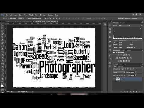 How To Make A Word Cloud In Photoshop (beautiful and easy!!)