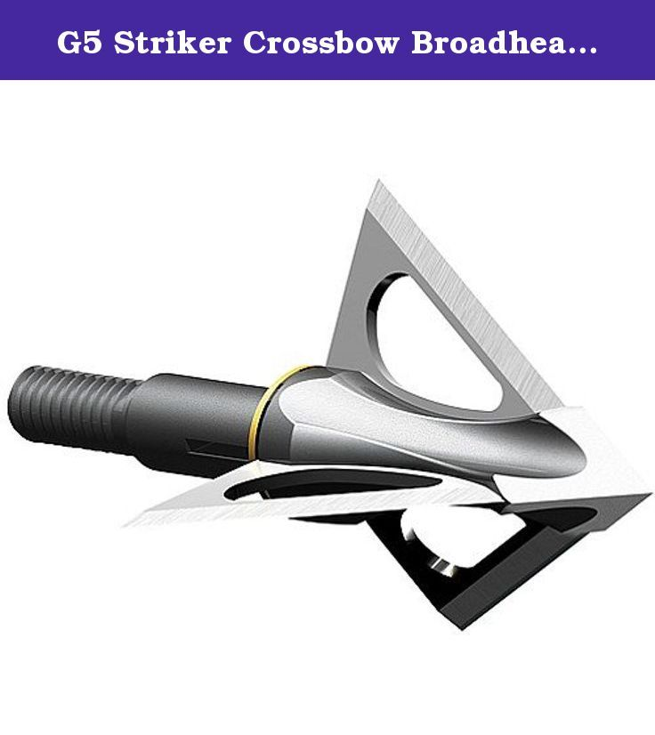 G5 Striker Crossbow Broadhead 3/Pk. - Choose Size 125 Gr. Stay on target with the G5® Striker replaceable-blade crossbow broadhead. It features a cut-on-contact, all-steel design that's 100% spin tested for dependably straight flight. The exclusive ANIX system keeps the razor-sharp Lutz® blades in place even during severe impacts. Choose from 100 or 125 grains.