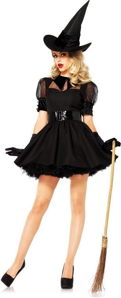 Sexy Bewitching Wicked Witch Outfit Dress and Hat Adult Halloween Costume NEW #LegAvenue #CompleteCostume