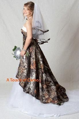 mossy oak camo wedding dresses