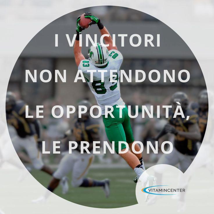 I vincitori non attendono le Opportunità, le prendono! #mondaymotivation Buon allenamento!  => www.vitamincenter.it #allenamento #mondaymotivation #palestra