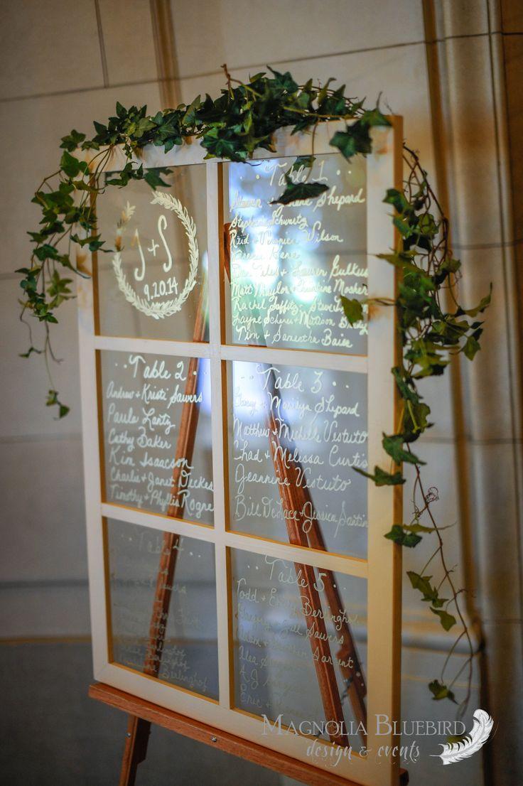 Escort Card   Window Pane   DC Wedding   Magnolia Bluebird   Real Wedding   Meridian House   Washington D.C.