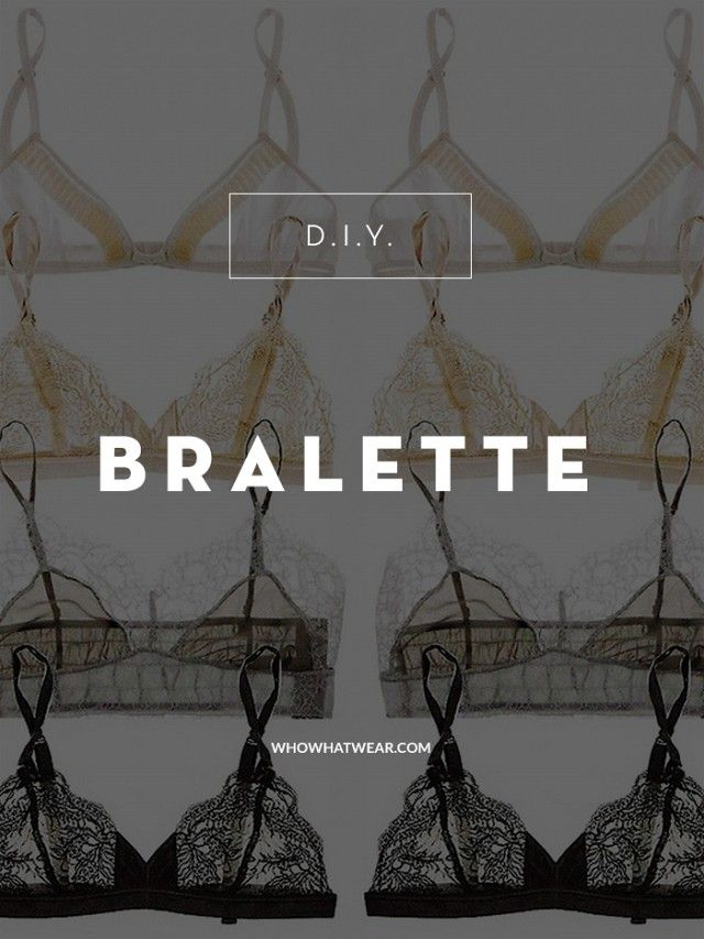 How to DIY a lace bralette