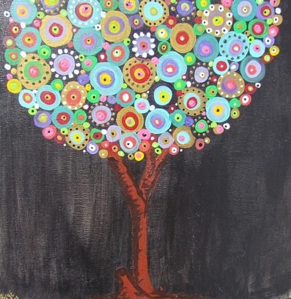 gorgeous acrylic on canvas tree