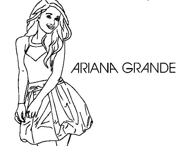 Ariana Grande Coloring Page Coloringcrew Com Coloring Pages