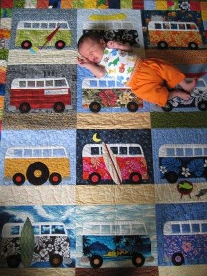 Such a CUTE quilt idea for a little one!!
