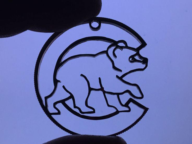 Chicago Cubs Logo cut into Kennedy Half Dollar