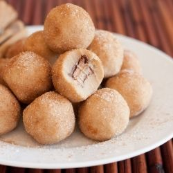 Rolo Stuffed Snickerdoodle Cookie Dough Bites - simply delicious and so easy to make!