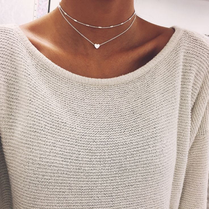 Silver Heart Chain Choker | Stargaze Jewelry