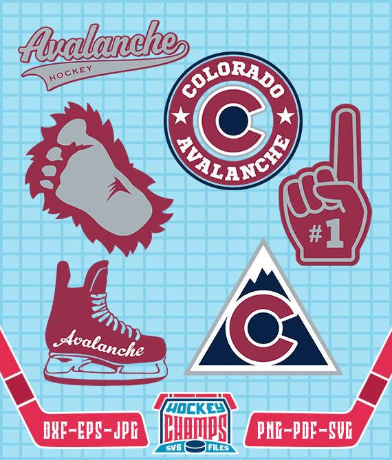 Colorado Avalanche Monogram SVG, Colorado Avalanche Logo, File for Cricut or Silhouette, Colorado Avalanche Cliparts, Hockey Cliparts CHL#20