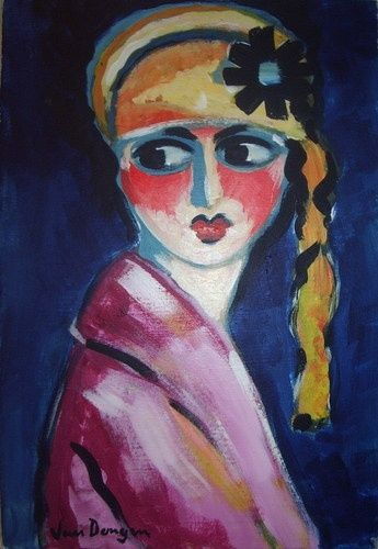 Kees van Dongen (1877-1968) Frans schilder van Nederlandse afkomst, hij werd vooral bekend door zijn portretten en figuurstukken, maar hij schilderde ook enkele Hollandse landschappen. Sinds 1897 verbleef Van Dongen in Parijs op Montmarte. Tot 1913 werkte hij in fauvistische trant, maar na de Eerste Wereldoorlog werd zijn werk realistischer. Hij was de grote modeschilder van Parijs, de portrettist bij uitstek van de mondaine wereld. -1920