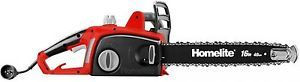 a homelite 16 12 amp electric chainsaw power tool home garden outdoor equipment