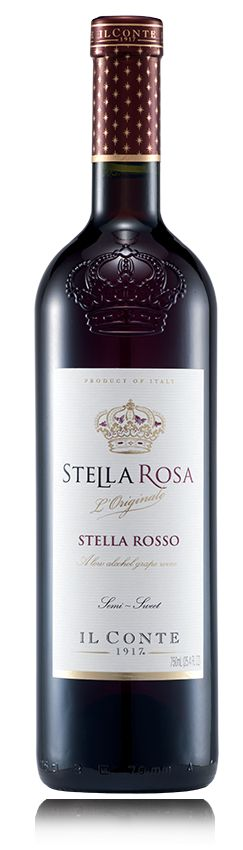 #1 Stella Rosa Rosso From the village of Santo Stefano Belbo in Piedmont comes our delicious original Stella Rosso®, a refreshing semi-sweet red wine best served chilled and accompanied with fresh fruit and cheese.