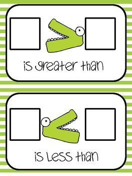Greater Than, Less Than Work Mat and Game - floatingthoughfirst - TeachersPayTeachers.com