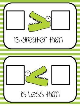 Greater Than, Less Than Work Mat and Game - floatingthoughfirst - TeachersPayTeachers.com